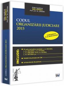 Codul organizarii judiciare 2015 3D